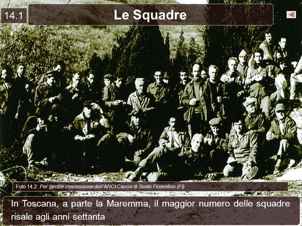 Le Squadre 14.1 In Toscana, a parte la Maremma, il maggior numero delle squadre risale agli anni settanta Foto 14.2: Per gentile concessione dellARCI