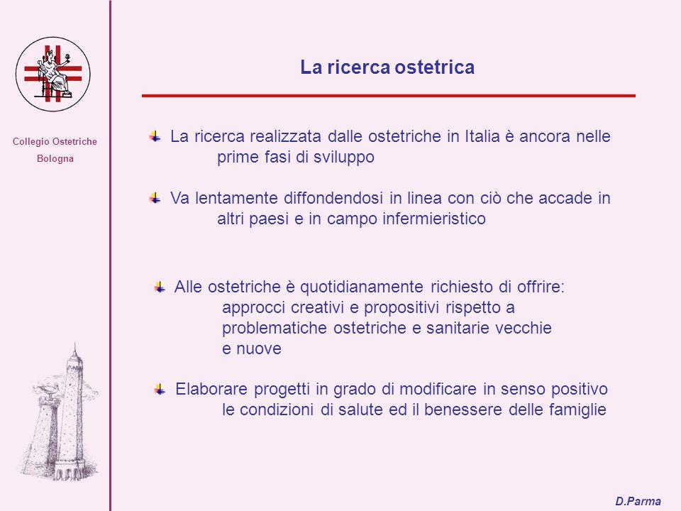 Collegio Ostetriche Bologna La ricerca realizzata dalle ostetriche in Italia è ancora nelle prime fasi di sviluppo Va lentamente diffondendosi in line