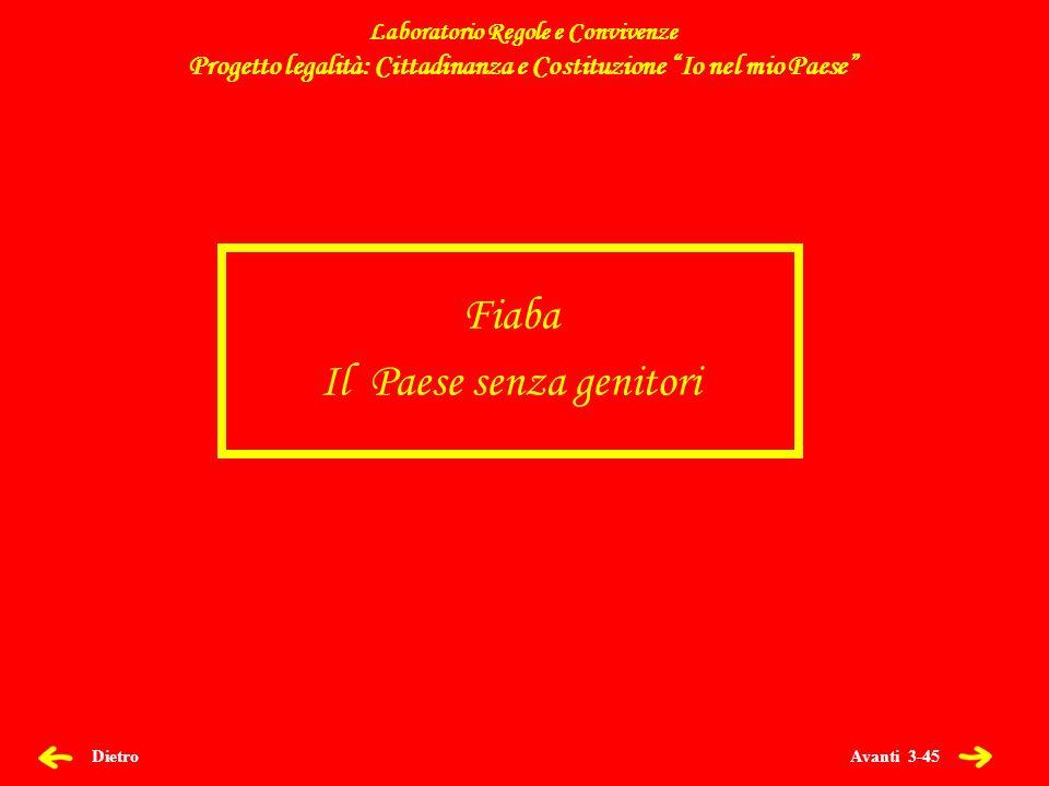 Avanti 44-45 Dietro Laboratorio Regole e Convivenze Progetto legalità: Cittadinanza e Costituzione Io nel mio Paese 21 Marzo 2013 – Giornata della legalità Progetto legalità