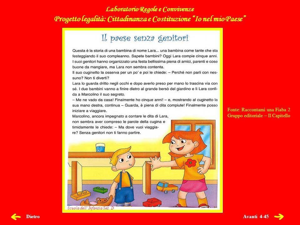 Avanti 35-45 Dietro 0 FILASTROCCA DEL BUON PAESE Filastrocca del buon paese dove si mastica linglese ma la lingua è litaliano che per noi è più alla mano.