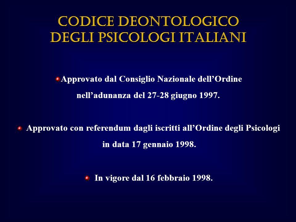 Approvato dal Consiglio Nazionale dellOrdine nelladunanza del 27-28 giugno 1997.