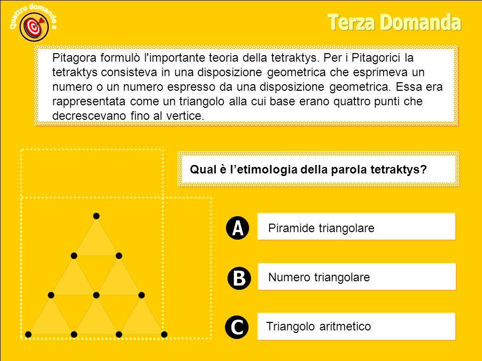 Piramide triangolare Triangolo aritmetico Numero triangolare Qual è letimologia della parola tetraktys.