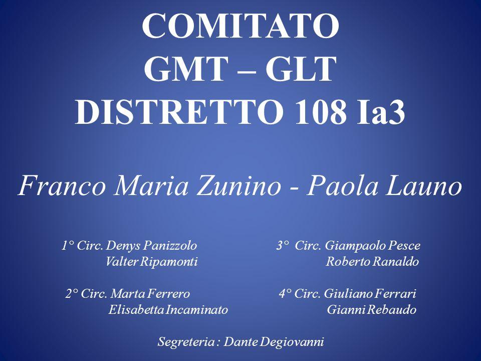 GMT-GLT nel Distretto Team dei DG GMTGLT 1° VDG 2° VDG TEAM GMTTEAM GLT