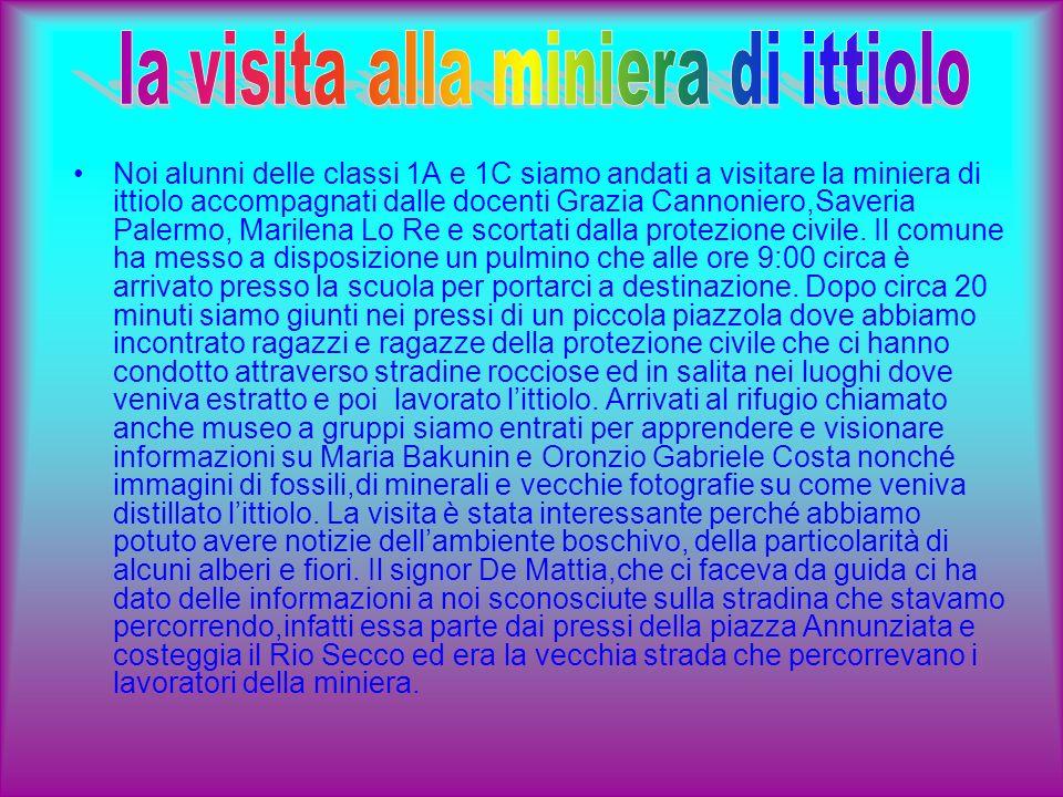 La miniera fu aperta per volere di 2 giffonesi, Alfonso DAngelo e Gaetano Visconti, sotto la direzione della dottoressa BAKUNIN ed ebbe un notevole sviluppo sotto la direzione del prof.