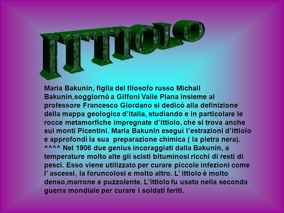 Maria Bakunin, figlia del filosofo russo Michail Bakunin,soggiornò a Giffoni Valle Piana insieme al professore Francesco Giordano si dedicò alla defin