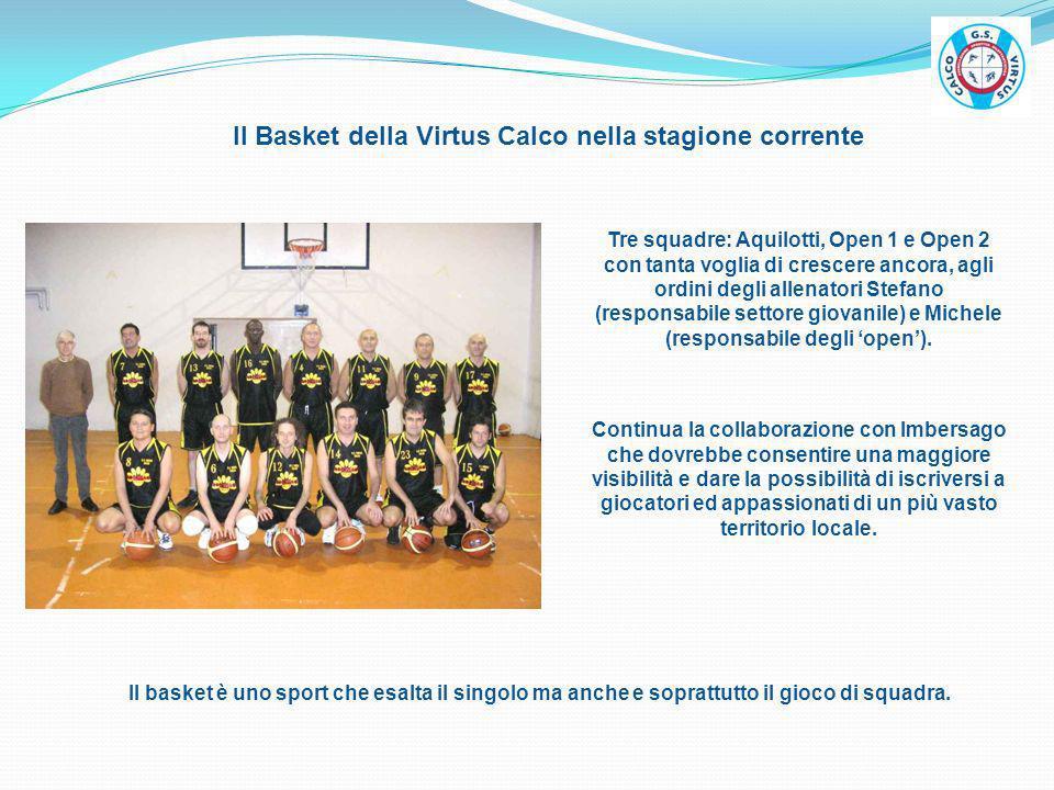 Il Basket della Virtus Calco nella stagione corrente Il basket è uno sport che esalta il singolo ma anche e soprattutto il gioco di squadra. Tre squad