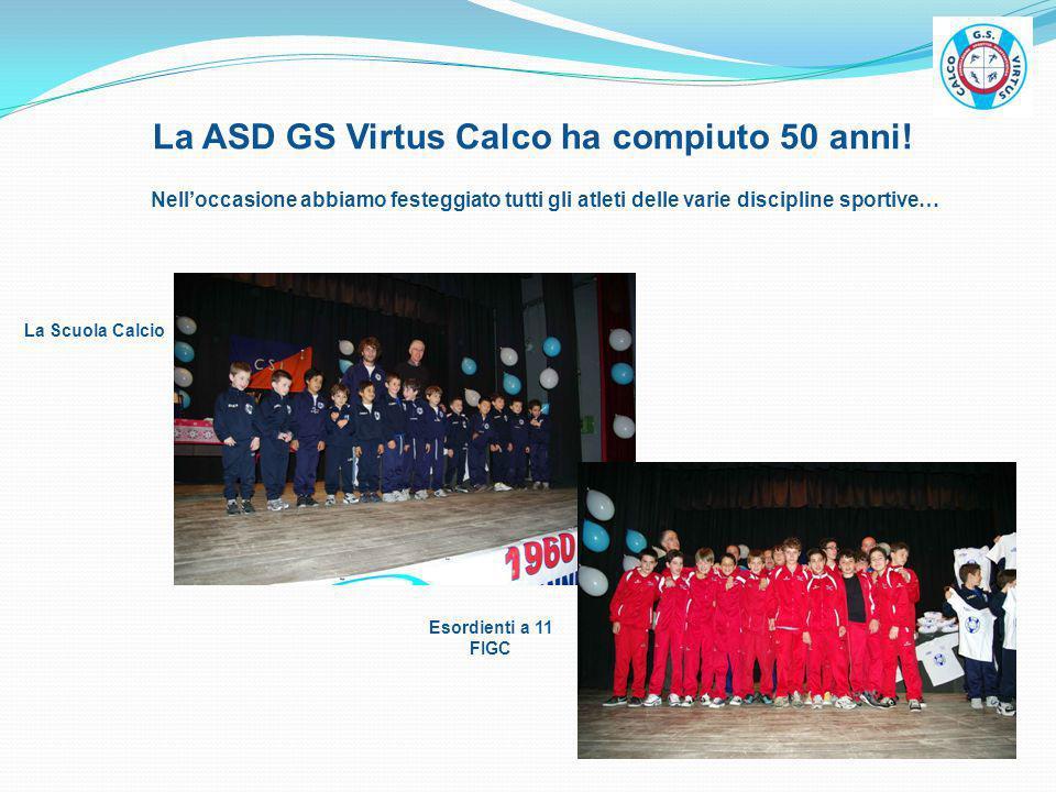 La ASD GS Virtus Calco ha compiuto 50 anni! Nelloccasione abbiamo festeggiato tutti gli atleti delle varie discipline sportive… La Scuola Calcio Esord