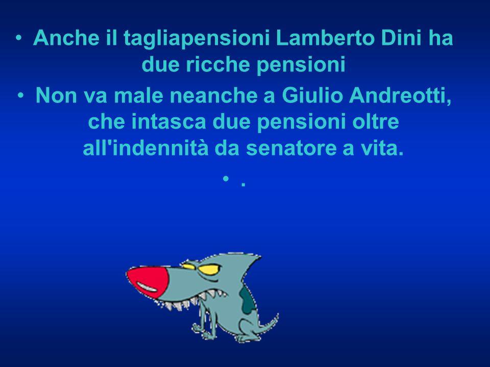 Ci sono sette i pensionati Inps che prendono più di 40.000 euro al mese.
