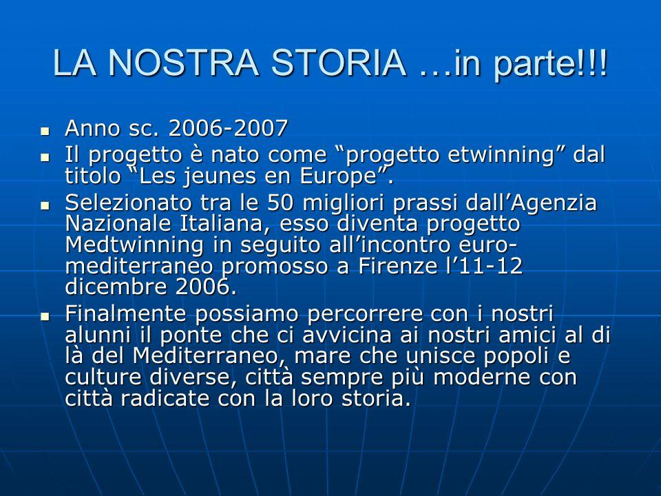 LA NOSTRA STORIA …in parte!!. Anno sc. 2006-2007 Anno sc.