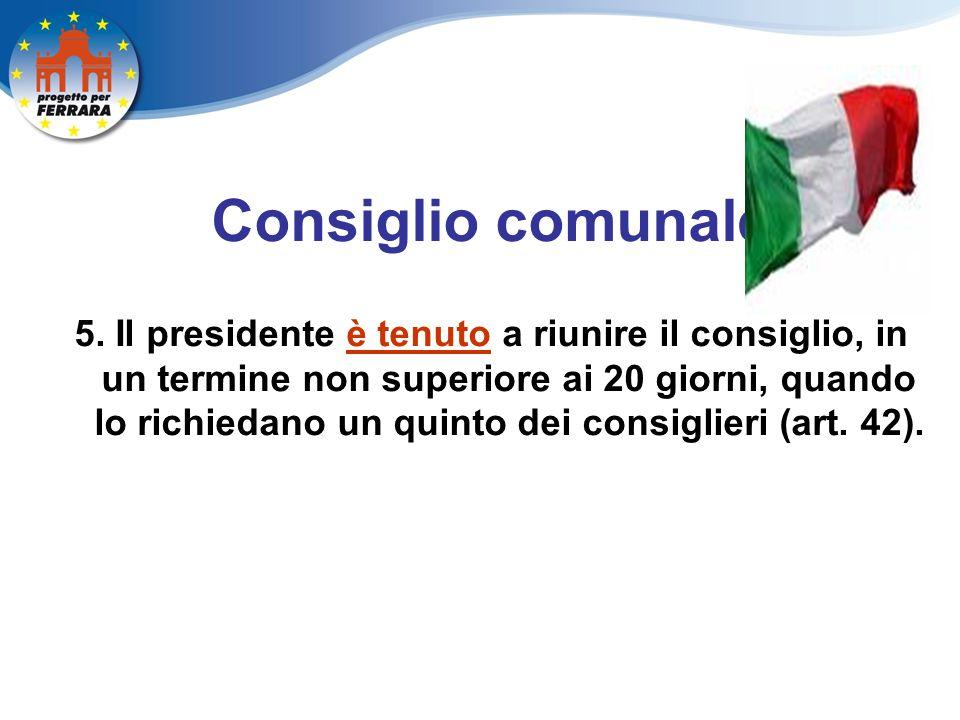 Consiglio comunale 5.