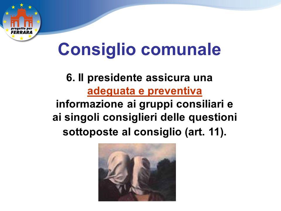 Consiglio comunale 6.