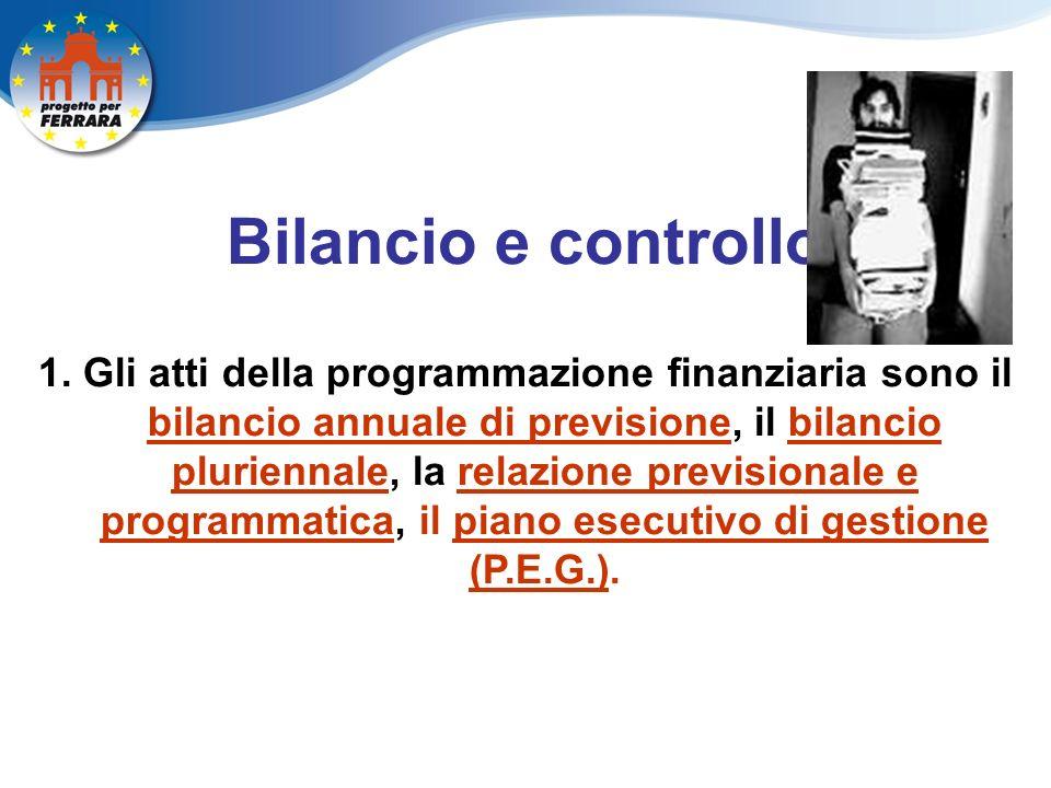 Bilancio e controllo 1.