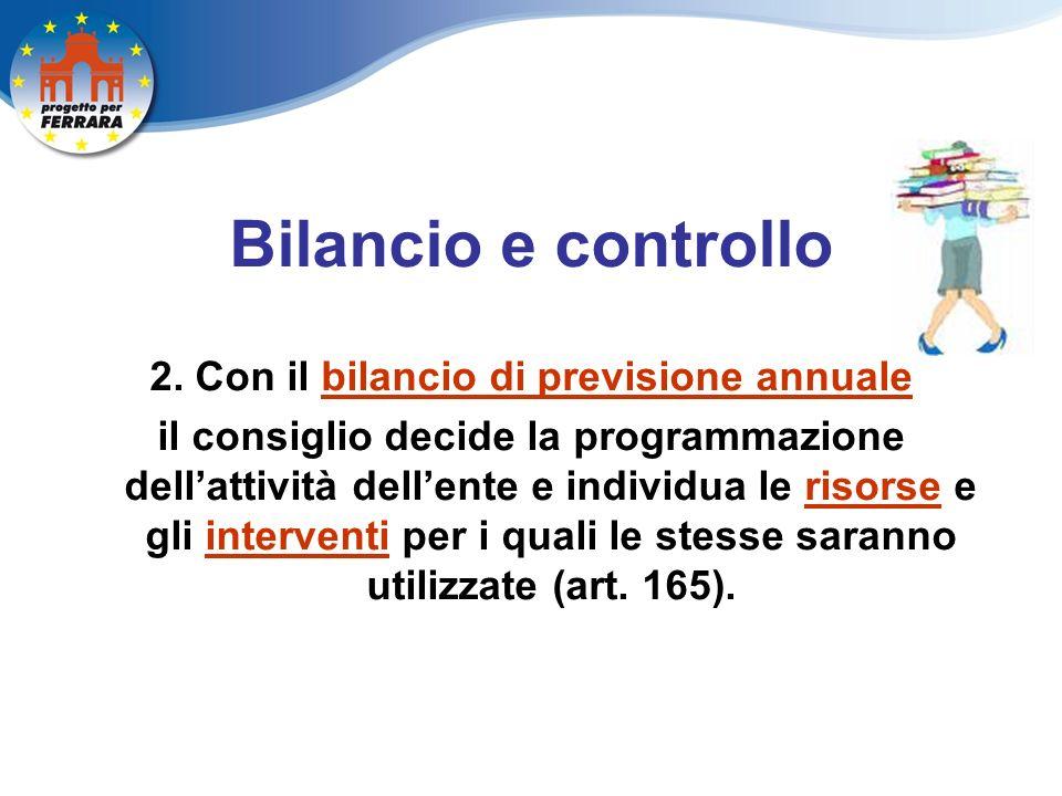 Bilancio e controllo 2.