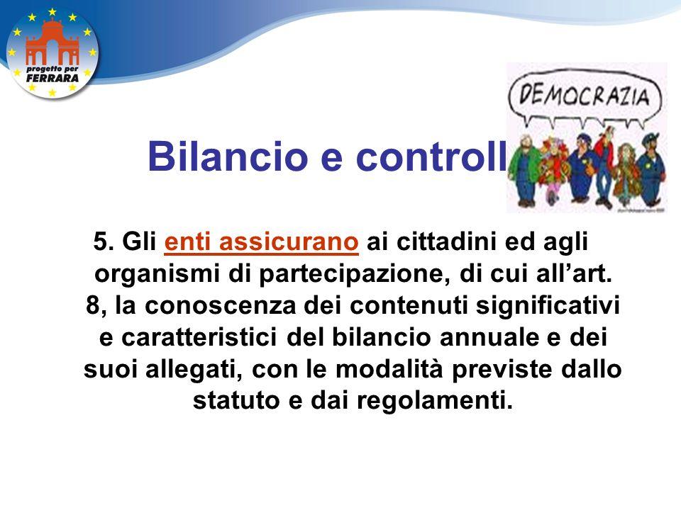 Bilancio e controllo 5.