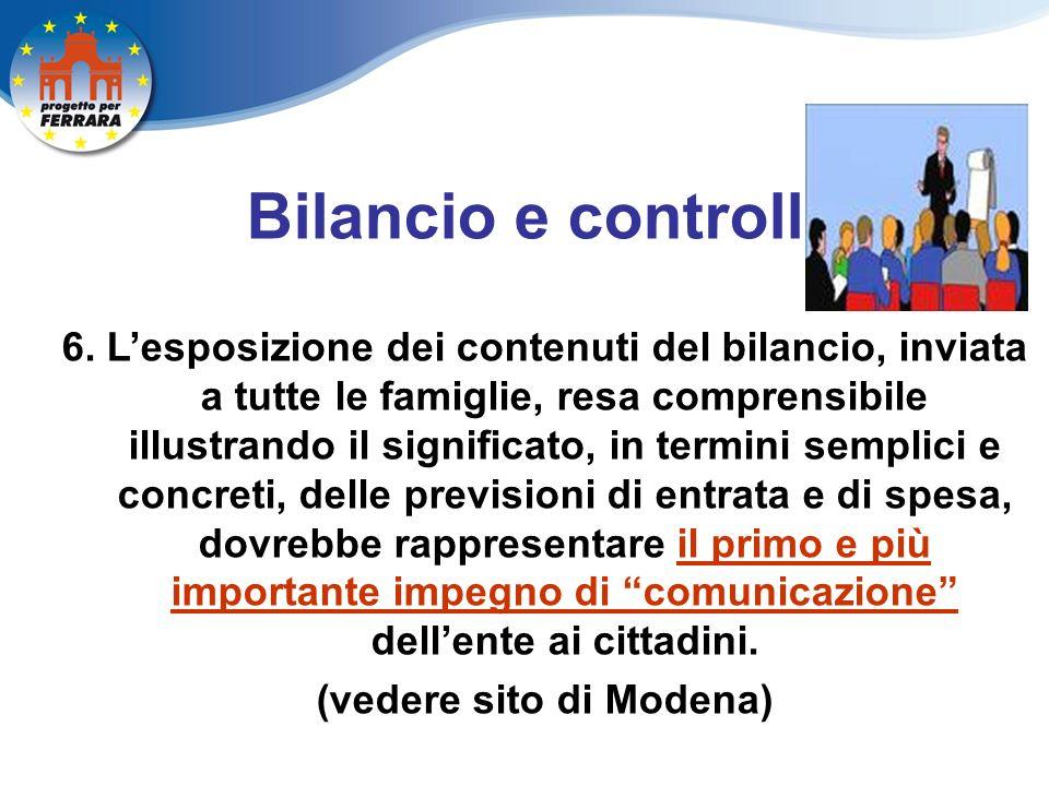 Bilancio e controllo 6.