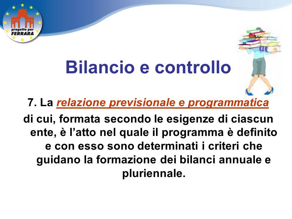 Bilancio e controllo 7.