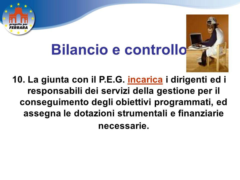 Bilancio e controllo 10. La giunta con il P.E.G.