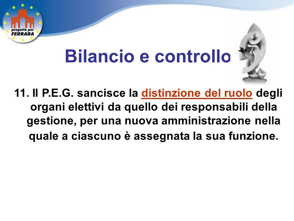 Bilancio e controllo 11. Il P.E.G.