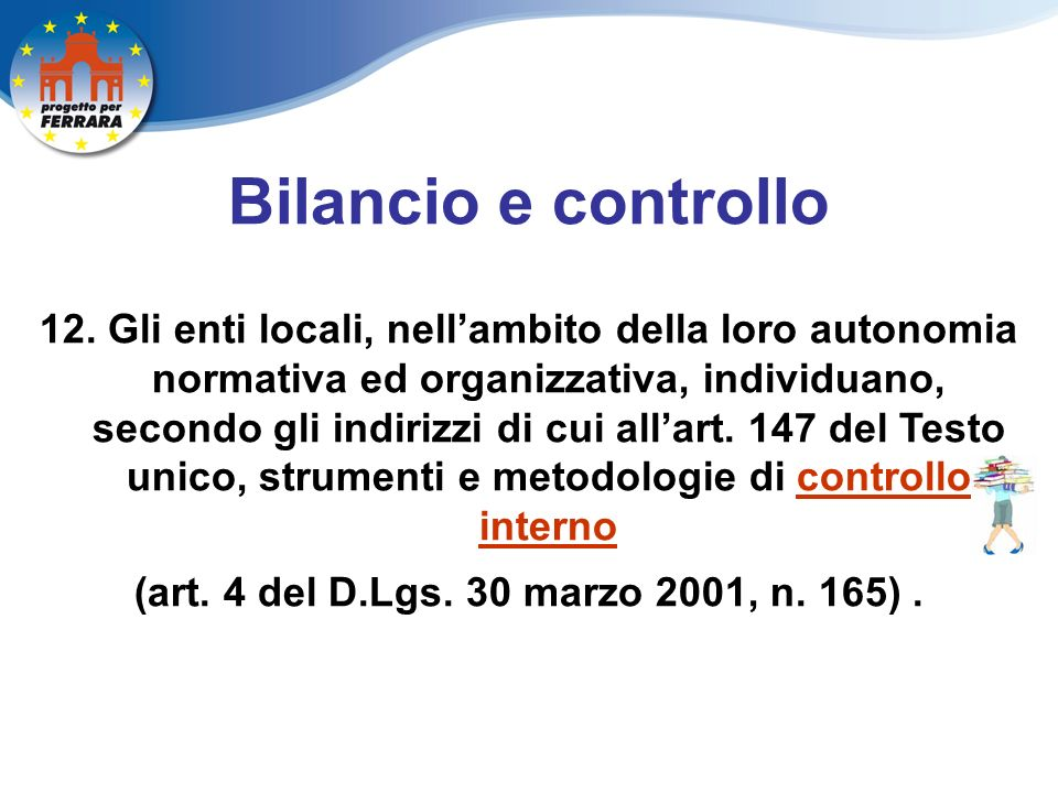 Bilancio e controllo 12.