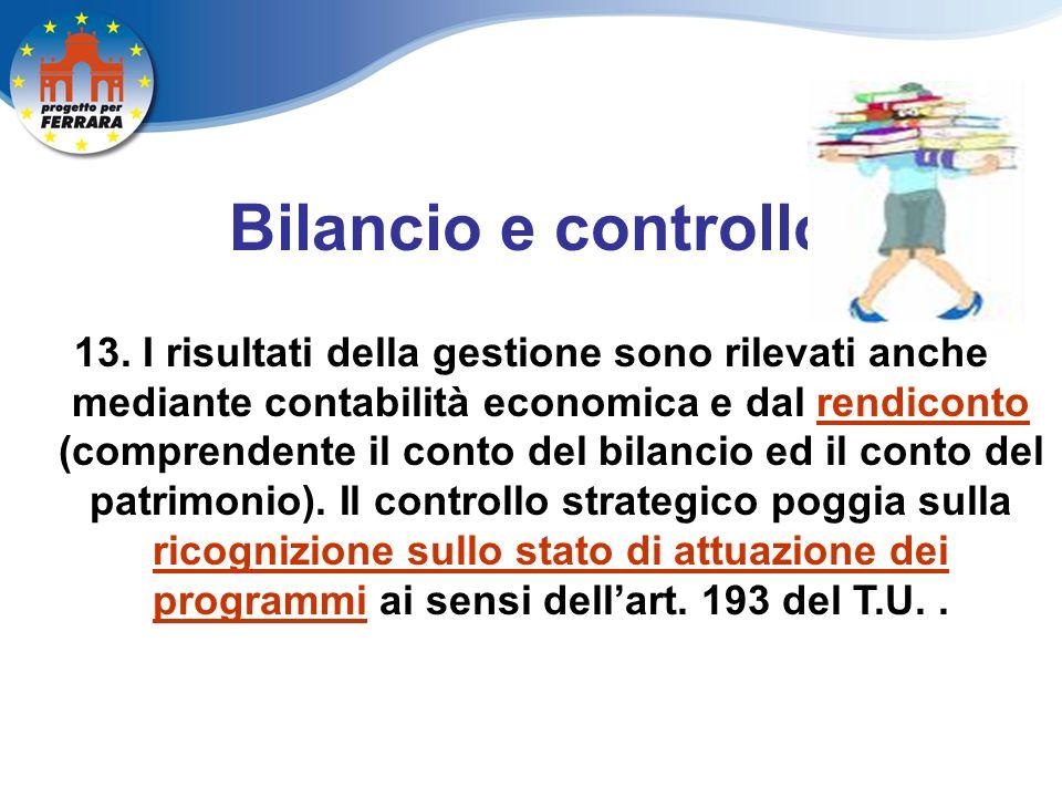 Bilancio e controllo 13.