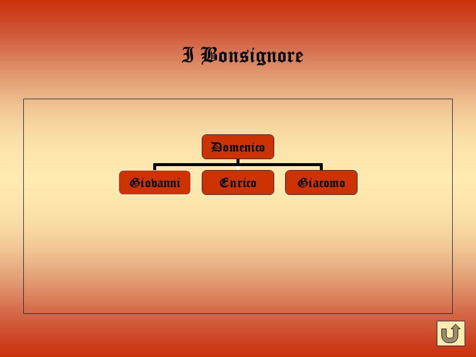I Bonsignore Domenico GiovanniEnricoGiacomo