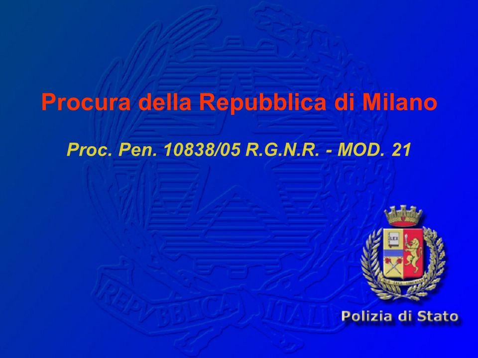 ATTUALE SITUAZIONE DELLINDAGINE (2) b) della risposta del Ministro della Giustizia italiano alla domanda del 10.11.05 del Procuratore Generale di Milano di inoltrare agli Stati Uniti (ed ai Paesi extra area Schengen) la richiesta di arresto a fini estradizionali del 22 ricercati.
