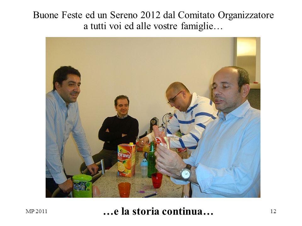 MP 201112 …e la storia continua… Buone Feste ed un Sereno 2012 dal Comitato Organizzatore a tutti voi ed alle vostre famiglie…