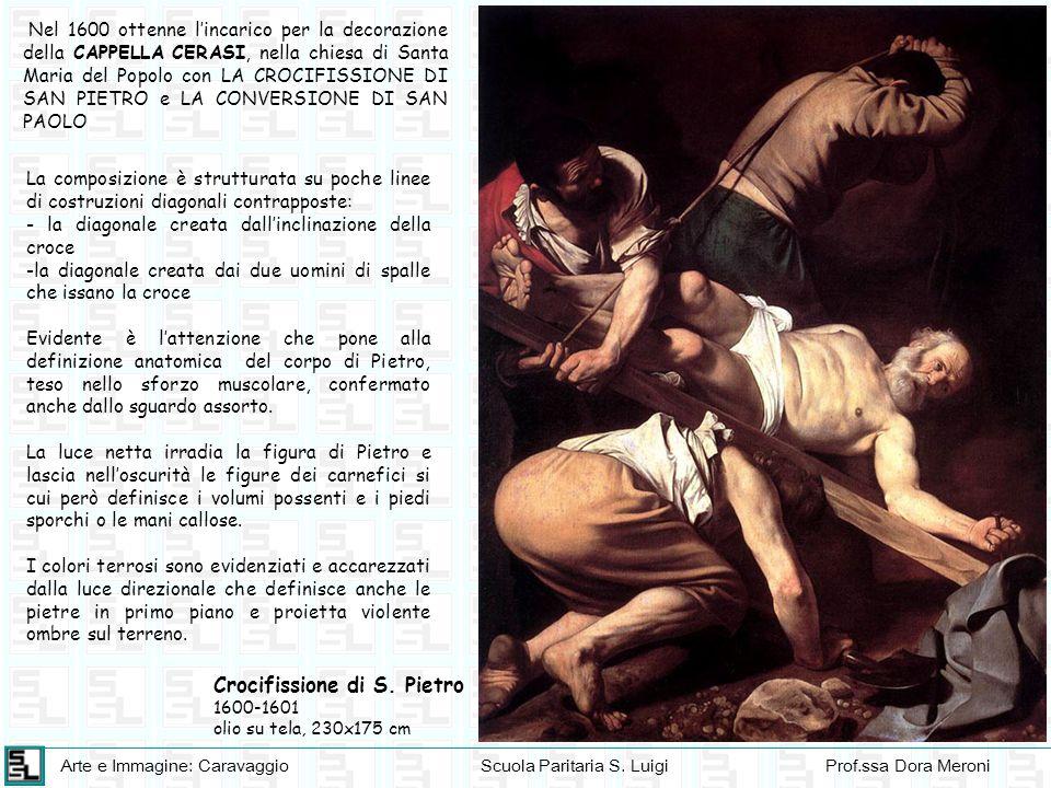 Arte e Immagine: CaravaggioScuola Paritaria S. LuigiProf.ssa Dora Meroni Nel 1600 ottenne lincarico per la decorazione della CAPPELLA CERASI, nella ch
