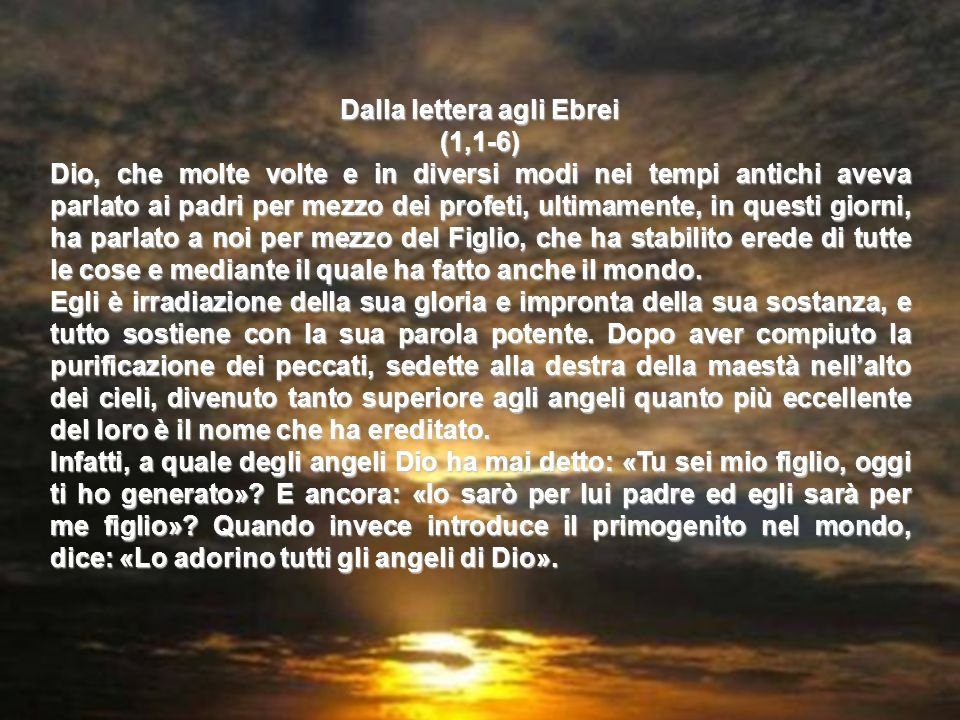 Salmo 97 Tutta la terra ha veduto la salvezza del Signore Cantate al Signore un canto nuovo, perché ha compiuto meraviglie. Gli ha dato vittoria la su
