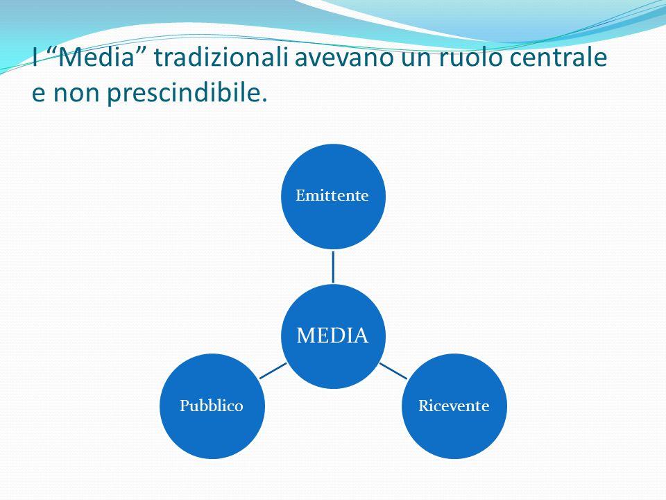 I Media tradizionali avevano un ruolo centrale e non prescindibile.