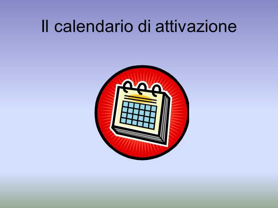 Il calendario di attivazione