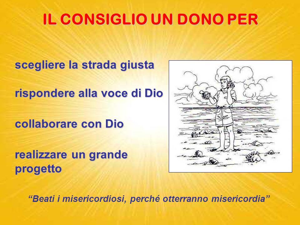 CONSIGLIO dal latino consulere = decidere Benedicoil Signore Benedico il Signore che mi ha dato consiglio; anche di notte il mio cuore mi istruisce. I