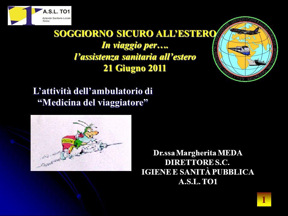 1 1 Dr.ssa Margherita MEDA DIRETTORE S.C. IGIENE E SANITÀ PUBBLICA A.S.L.