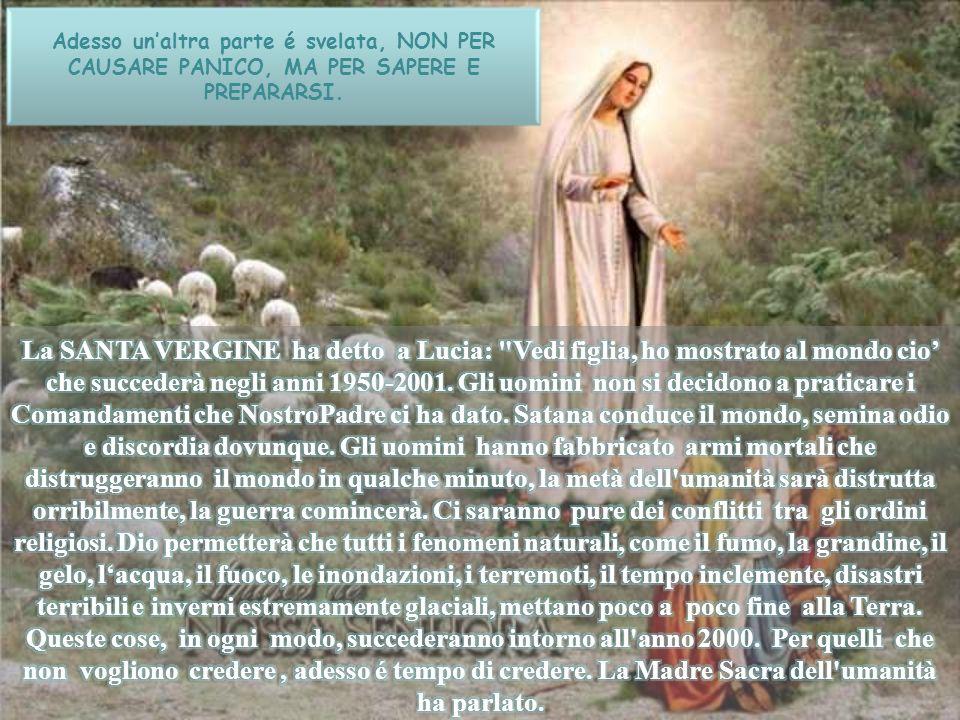 La Chiesa ha dato il permesso di svelare il 3zo segreto di Fatima.
