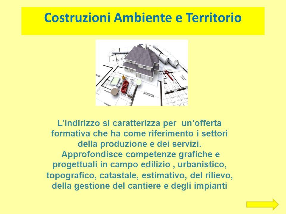Costruzioni Ambiente e Territorio Lindirizzo si caratterizza per unofferta formativa che ha come riferimento i settori della produzione e dei servizi.