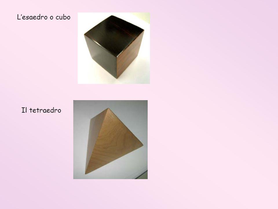 Lesaedro o cubo Il tetraedro