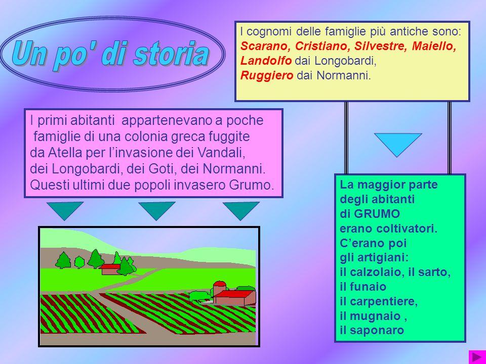 Origine del nome Ci sono diverse spiegazioni sui vari libri che abbiamo consultato: CASAGRUMI perché cerano tanti agrumi CASAGRUMI perché cerano tanti agrumi GRUMUS che significa mucchio GRUMUS che significa misura agraria.