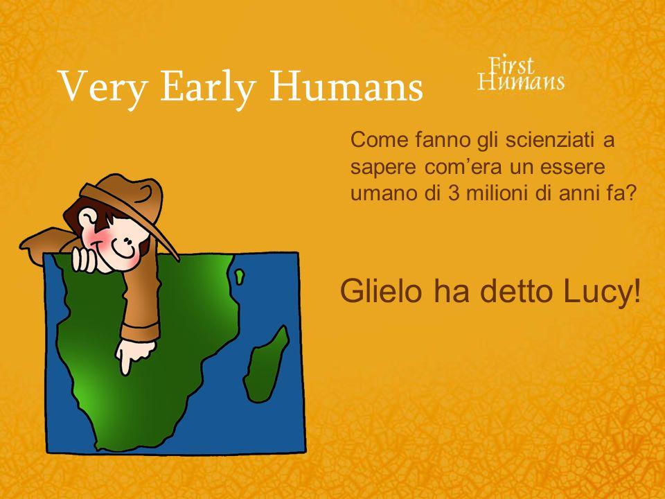 Very Early Humans Come fanno gli scienziati a sapere comera un essere umano di 3 milioni di anni fa? Glielo ha detto Lucy!