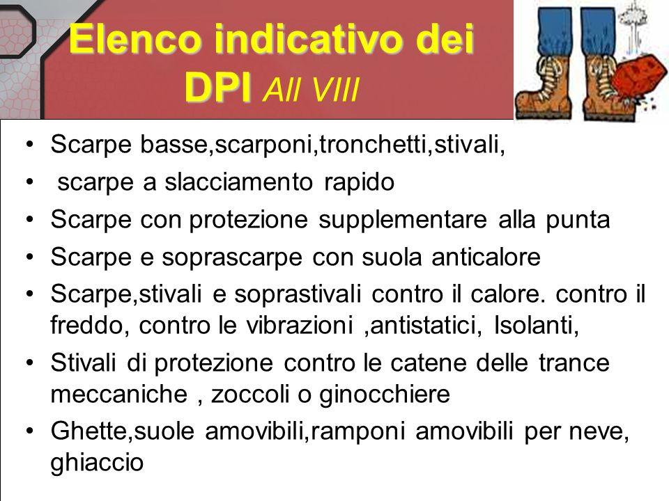 Scarpe di sicurezza Art.384 DPR 547/56 Per la protezione dei piedi, nei lavori in cui esistono specifici pericoli di ustioni, di causticazioni, di pun