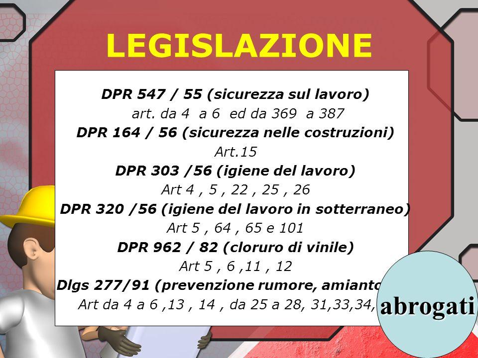 Norme principali di riferimento specifico: Art.193 Dlgs 81/08 : il DL mette a disposizione i DPI conformi agli art 74-79 > valore inferiore dazione e ne esige luso a valori pari o > valore superiore dazione.