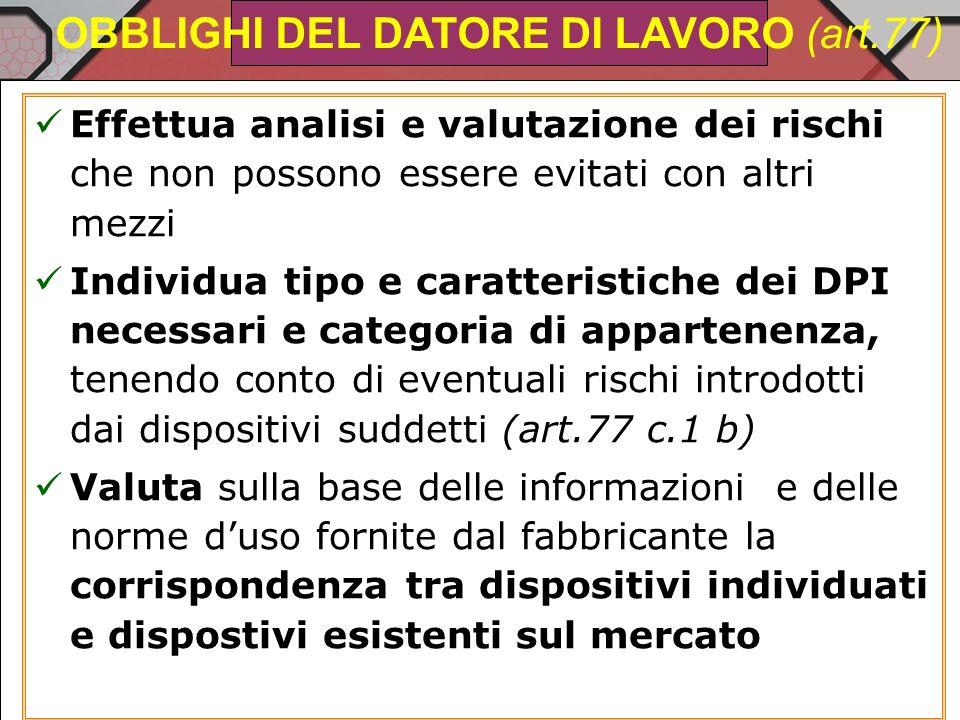 DPI Comfort Leggerezza Adattamento alla morfologia Dimensioni limitate Trasportabilità Comfort termico Notizie sulle protezioni fornite Limiti di uso