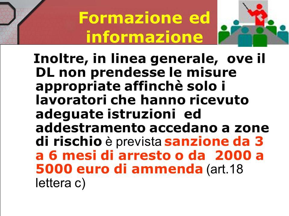Sanzioni per il lavoratore Se non segnalano le deficienze dei DPI (art 20 co.2 lettera e) arresto<1 mese o ammenda 200 - 600 euro