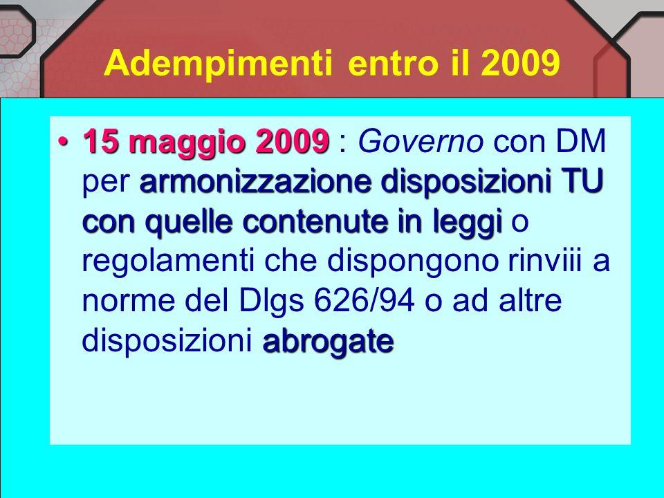LEGISLAZIONE Circolare Ministero del Lavoro n.34 del 29.4.99 Linee guida delle Regioni (1996) Dlgs 475/92 (dispositivi di prot.individuale) DM 2.5.200