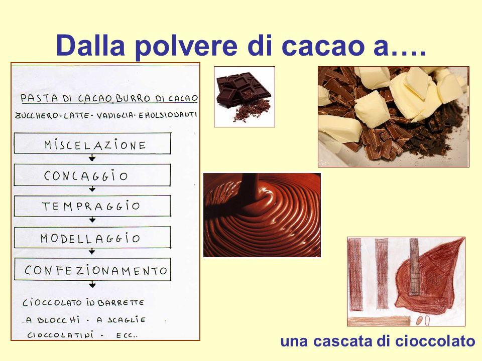 Dalla polvere di cacao a…. una cascata di cioccolato