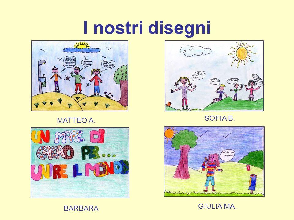 I nostri disegni MATTEO A. SOFIA B. BARBARA GIULIA MA.