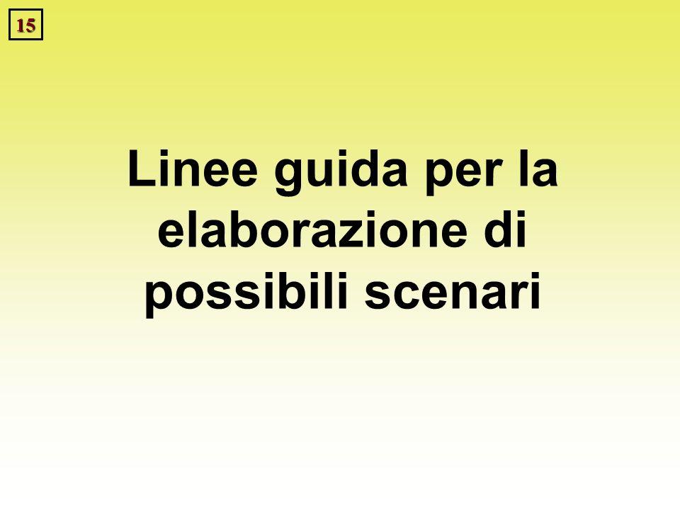 15 Linee guida per la elaborazione di possibili scenari