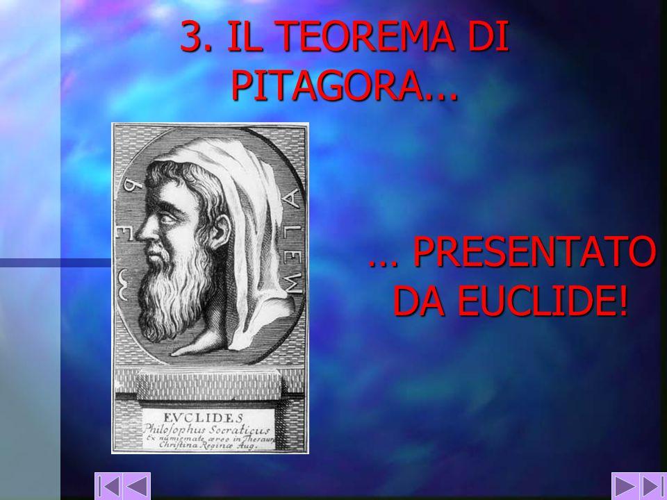3. IL TEOREMA DI PITAGORA... … PRESENTATO DA EUCLIDE!