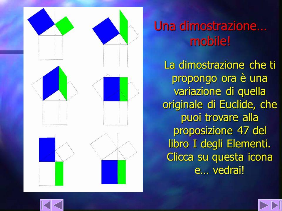 Una dimostrazione… mobile! La dimostrazione che ti propongo ora è una variazione di quella originale di Euclide, che puoi trovare alla proposizione 47