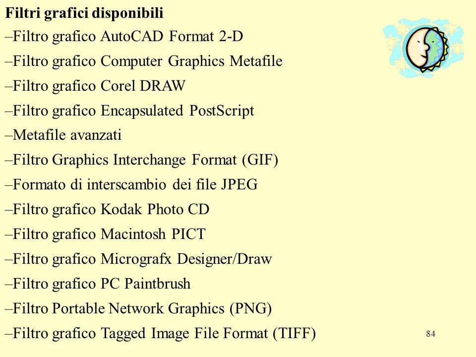 85 - Filtro grafico Targa - File bitmap di Windows - Metafile di Windows -Filtri di importazione ed esportazione WordPerfect Graphics Aggiungere profondità a un disegno Per aggiungere profondità a un disegno, utilizzare lo strumento Ombreggiatura sulla barra degli strumenti Disegno.