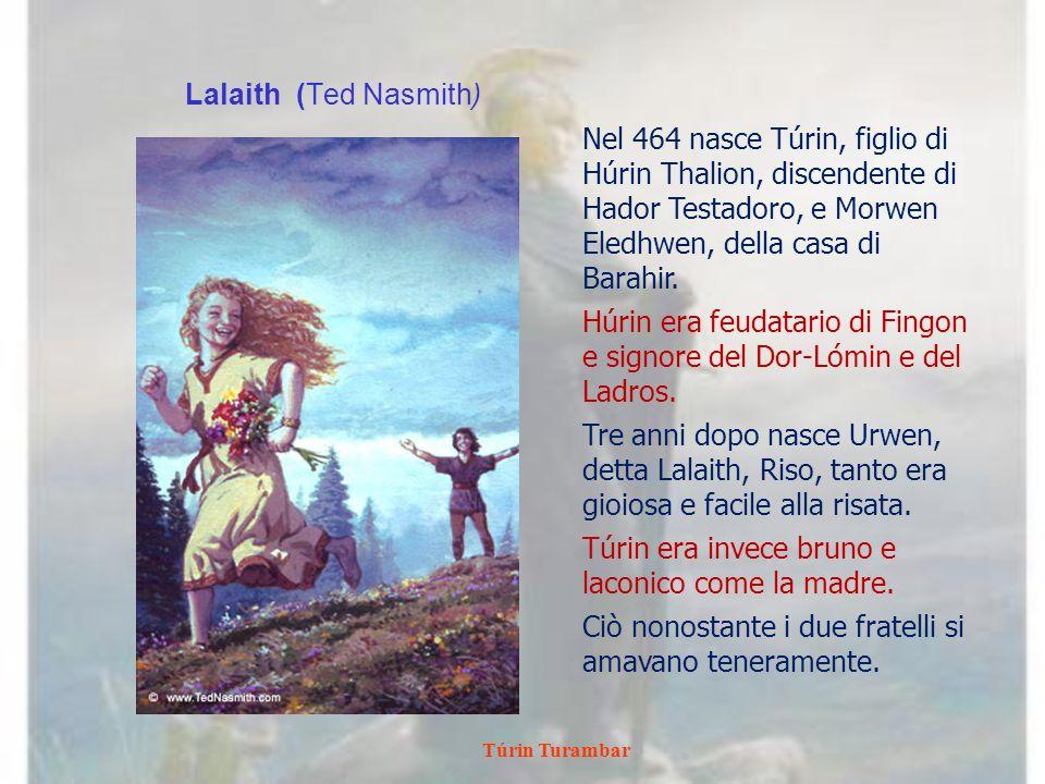 Túrin Turambar Mîm Pleads For His Life Ted Nasmith Túrin si sposta verso ovest con la sua banda.